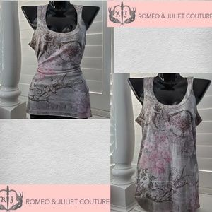 ROMEO & JULIET COUTURE Floral Floral Tank Top